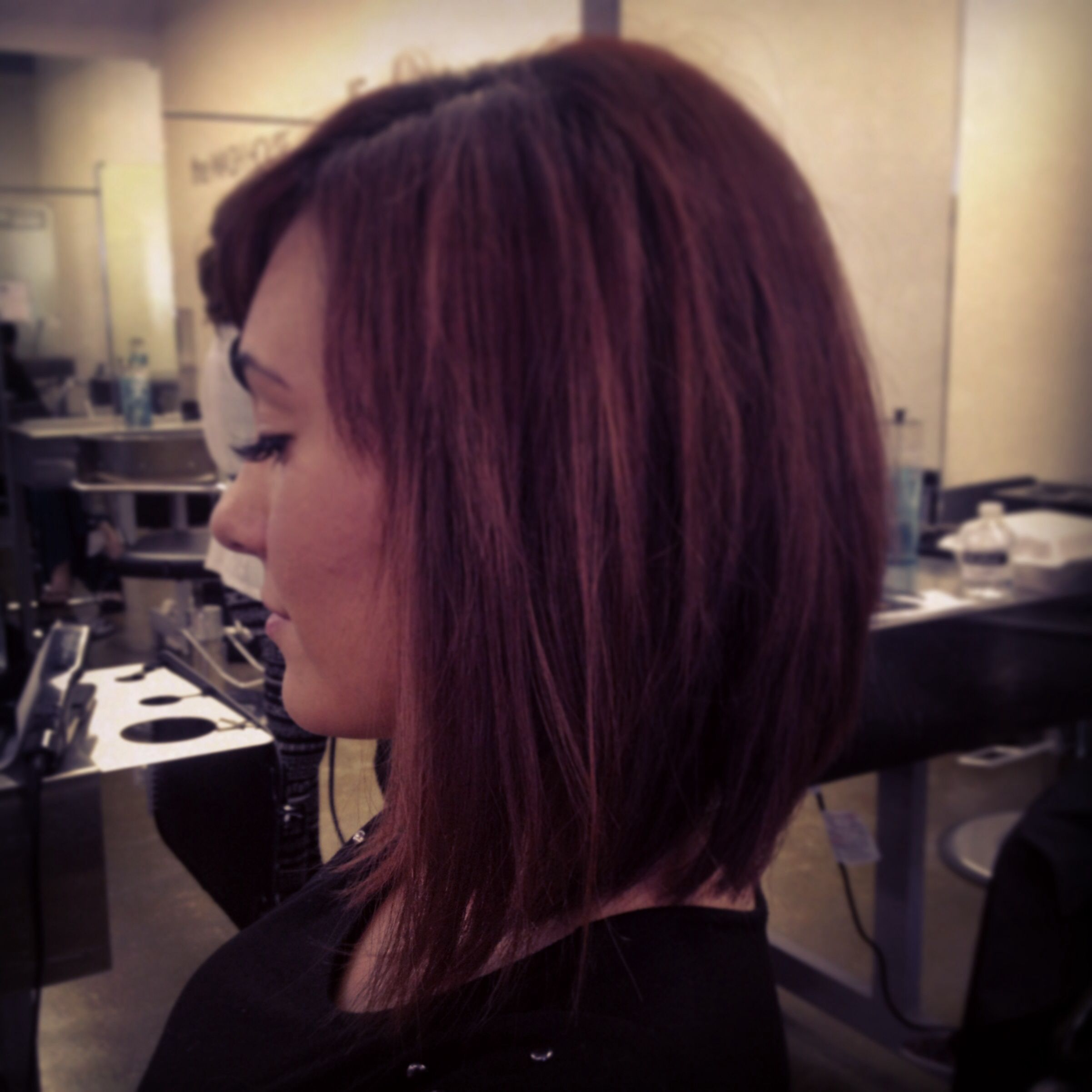 Triangular One Length With Triangular Layers Hair And Photography