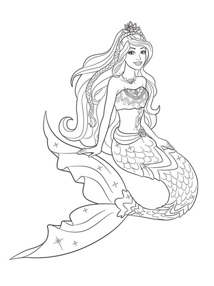 Barbie Mermaid Coloring Pages 004 All Girls Must Know Barbie Barbie Is A Beautiful Doll P In 2020 Mermaid Coloring Pages Unicorn Coloring Pages Mermaid Coloring Book