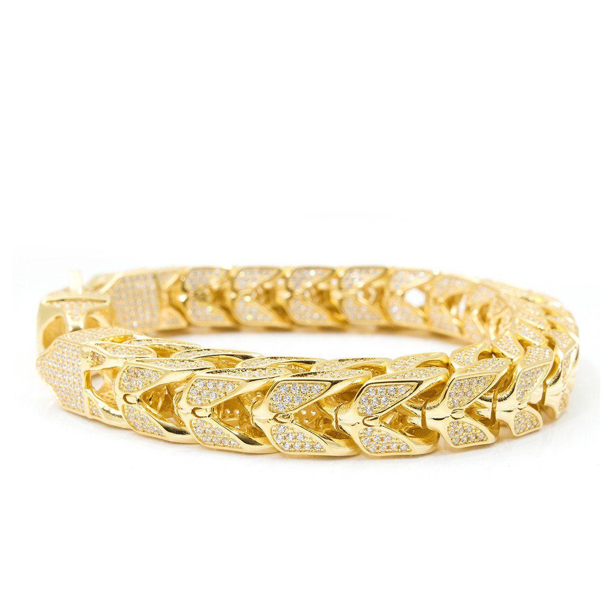 Iced out franco bracelet mm