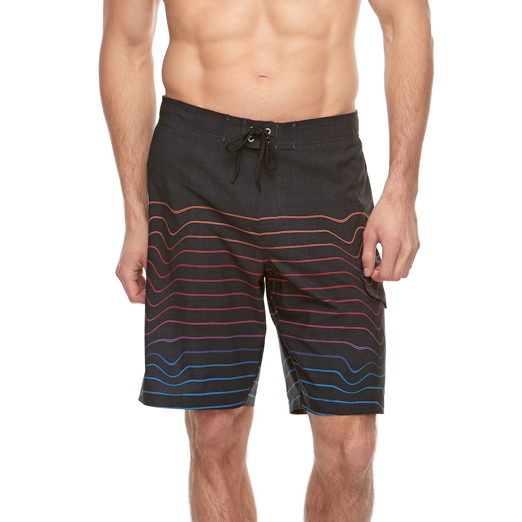 "bb6dccc76e31e Big & Tall SONOMA Goods for Lifeâ""¢ Flexwear Striped Swim Trunks, Men's,  Size: XL Tall, Summer"