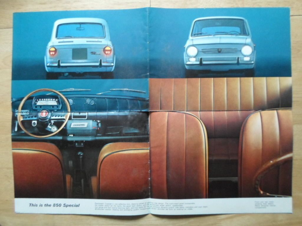 Fiat 850 Special Orig 1968 1969 Uk Mkt Sales Brochure Ebay