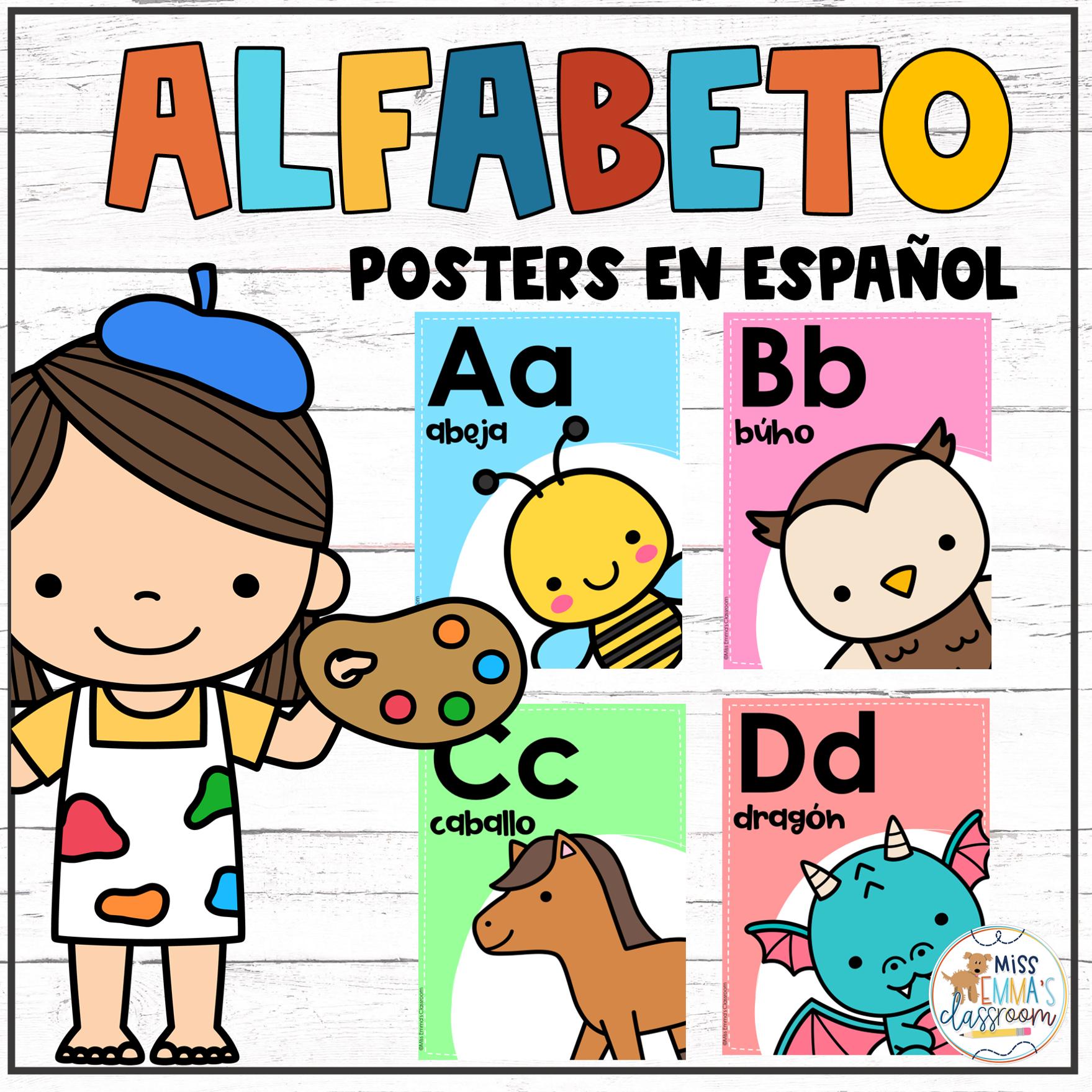 Alphabet Posters In Spanish Posters Del Alfabeto En
