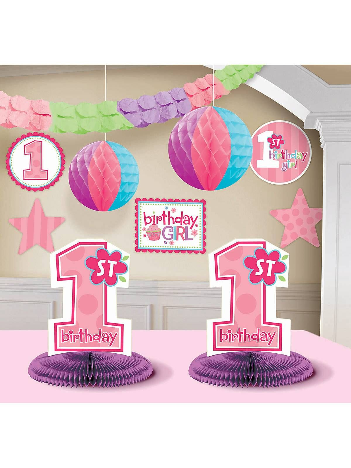1st Birthday Girl Decorating Kit! See more birthday party