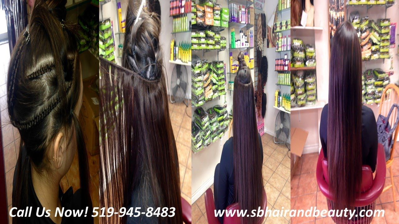 Sew In Hair Extension Before And After Windsor Ontario Hair