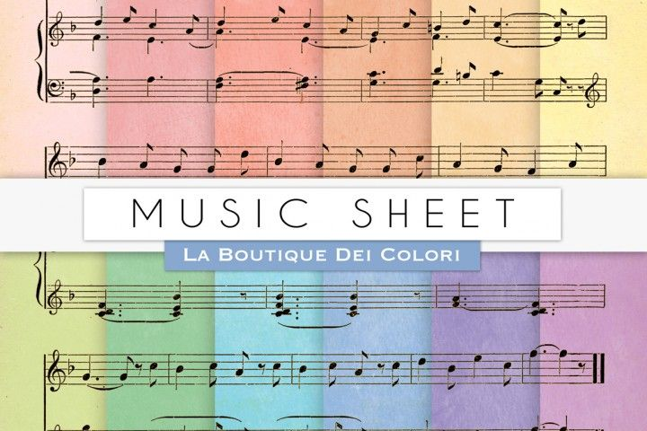 Music Sheet Digital Papers By La Boutique Dei Colori
