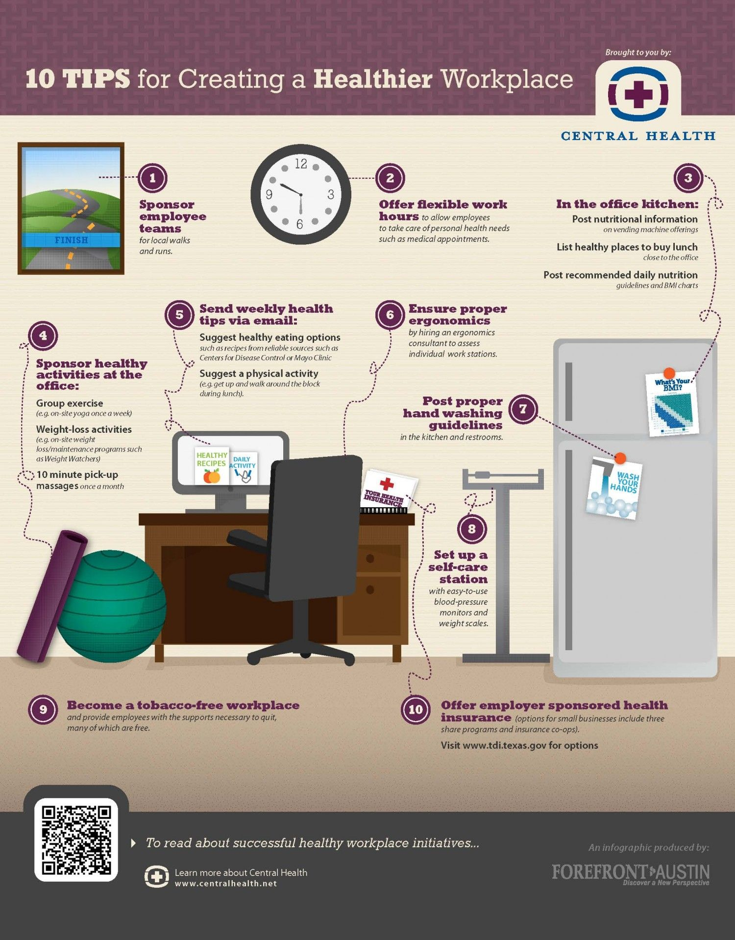 10 Tips For Creating A Healthier Workplace On