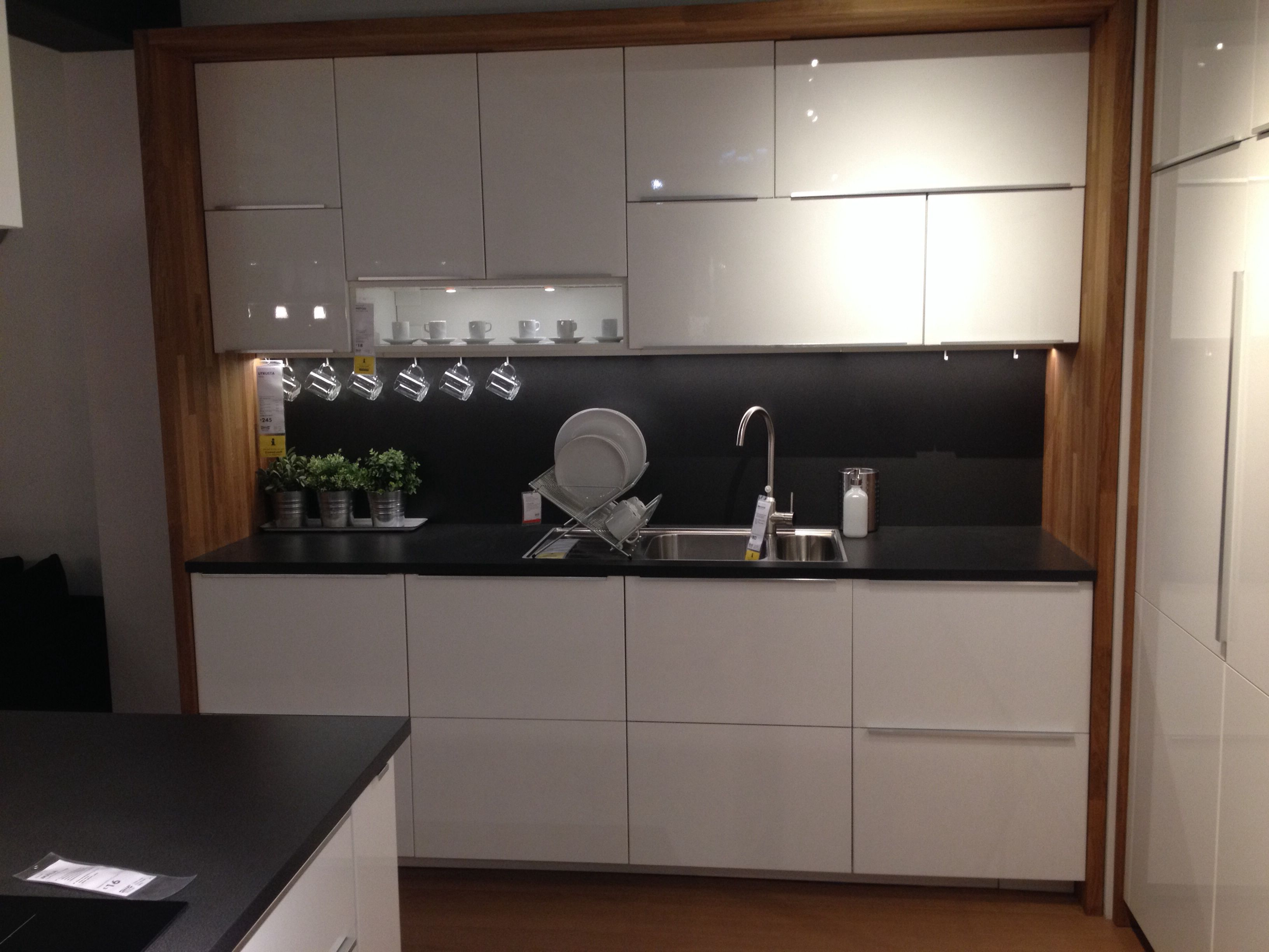 Ikea metod kitchen with worktop framing units  Hausbau