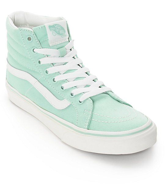 Vans Sk8-Hi Slim Gossamer Green Shoes (Womens) 9ed1f161b