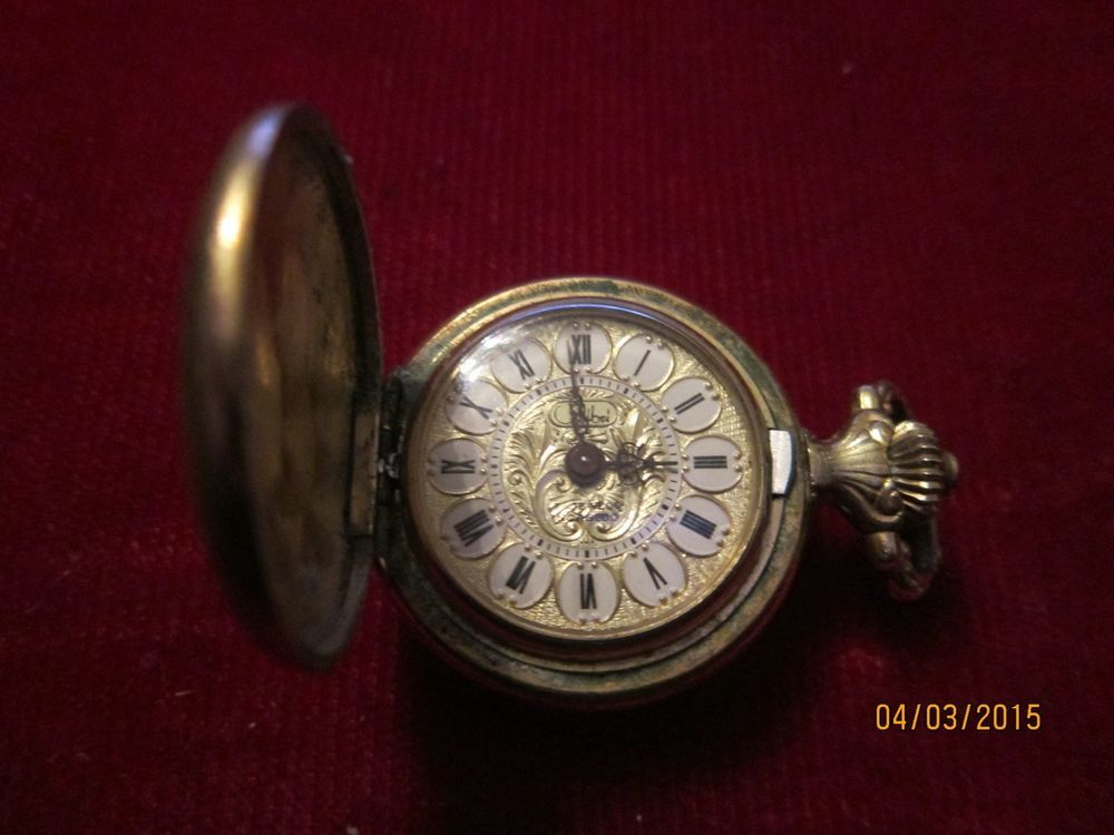 982ae3b90 vintage colibri pendant/pocket watch 17 jewels in gold filled double case  #Colibri