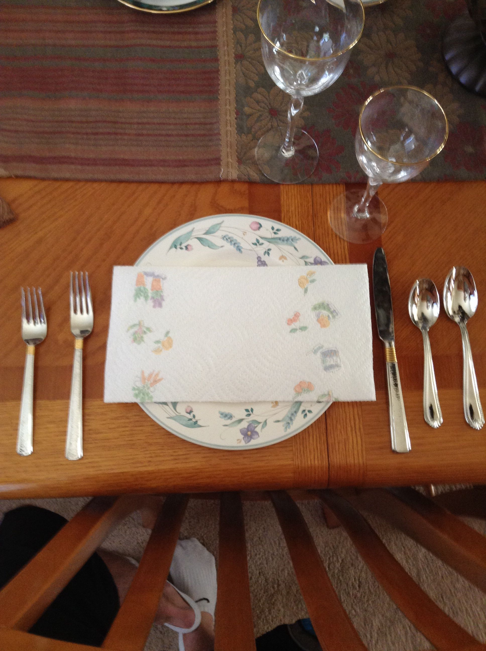 Informal Table Setting.