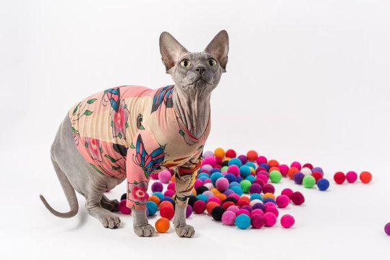 CatDog Clothes Brown Tiger  Vest for Sphynx Cat