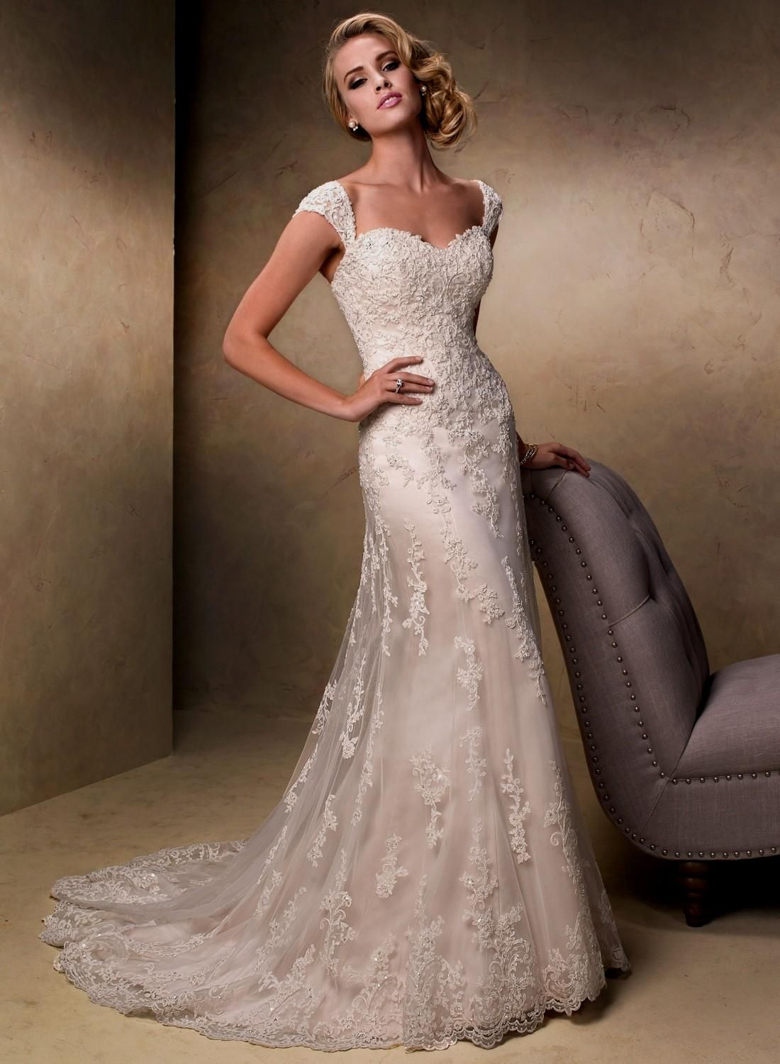 Wedding dress patterns with sleeves  a line lace wedding dresses Naf Dresses  Dresses  Pinterest  Lace