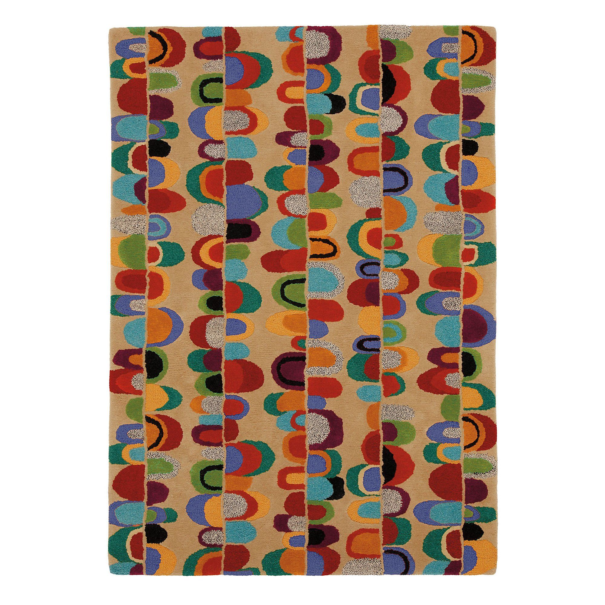 Paper Chain Rug In Sand Geometric Pattern Tufted Rugs Handmade Area