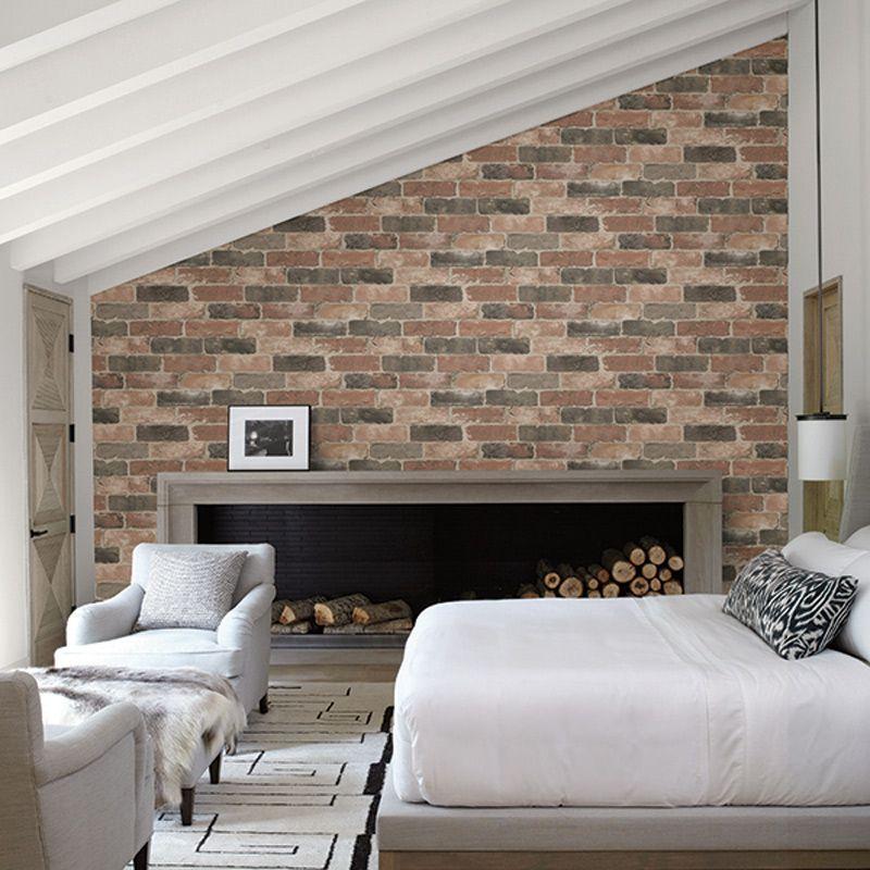 Couple Bedroom Wall Decor Bedroom With Bed On Floor Exposed Brick Wallpaper Bedroom Bedroom Wallpaper Gold: 022320663 Reclaimed Rasch-Textil Vliestapete