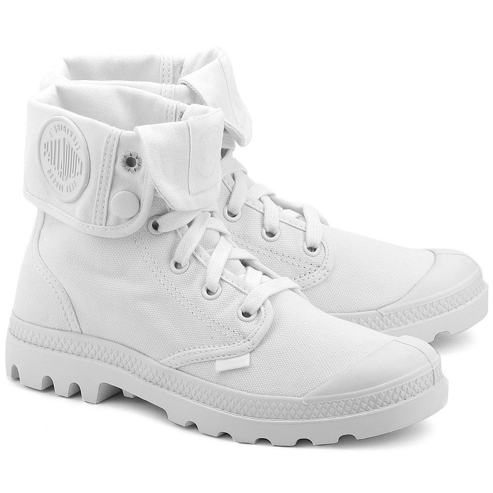 Palladium Baggy Biale Canvasowe Trapery Damskie 92353154 Boots Shoes Timberland Boots