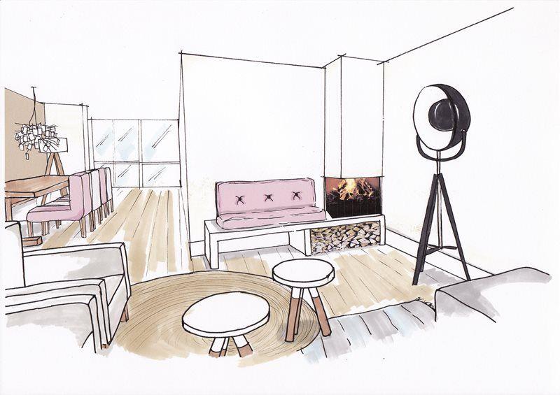perspectief tekenen interieur - google zoeken | sketchbook, Deco ideeën