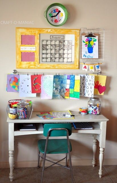 Homework Station With A Focus On Art To Help Inspire
