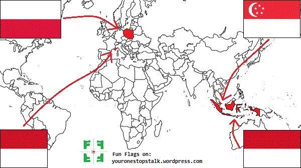 Flag Facts Poland Indonesia Monaco And Singapore Singapore Flag Indonesia World Thinking Day