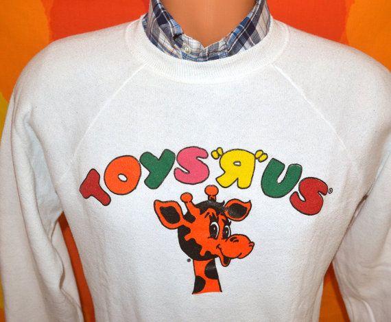 c49cd81fa93 vintage 80s sweatshirt TOYS R US geoffrey giraffe sweater raglan ...
