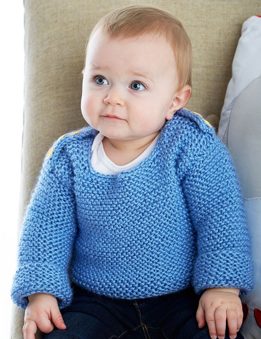 Free knitting pattern for baby garter stitch sweater knitting free knitting pattern for baby garter stitch sweater bankloansurffo Choice Image