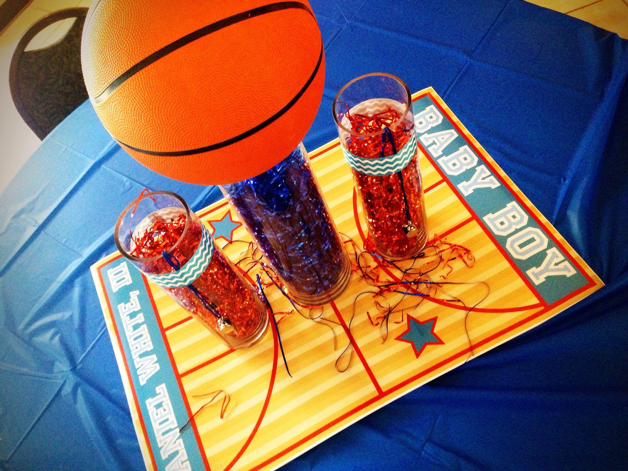 Wonderful Basketball Baby Shower Centerpiece