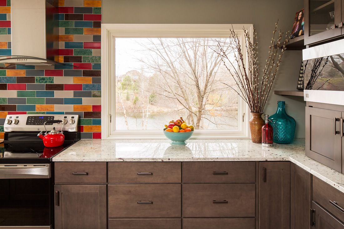 California Citrus Kitchen Backsplash