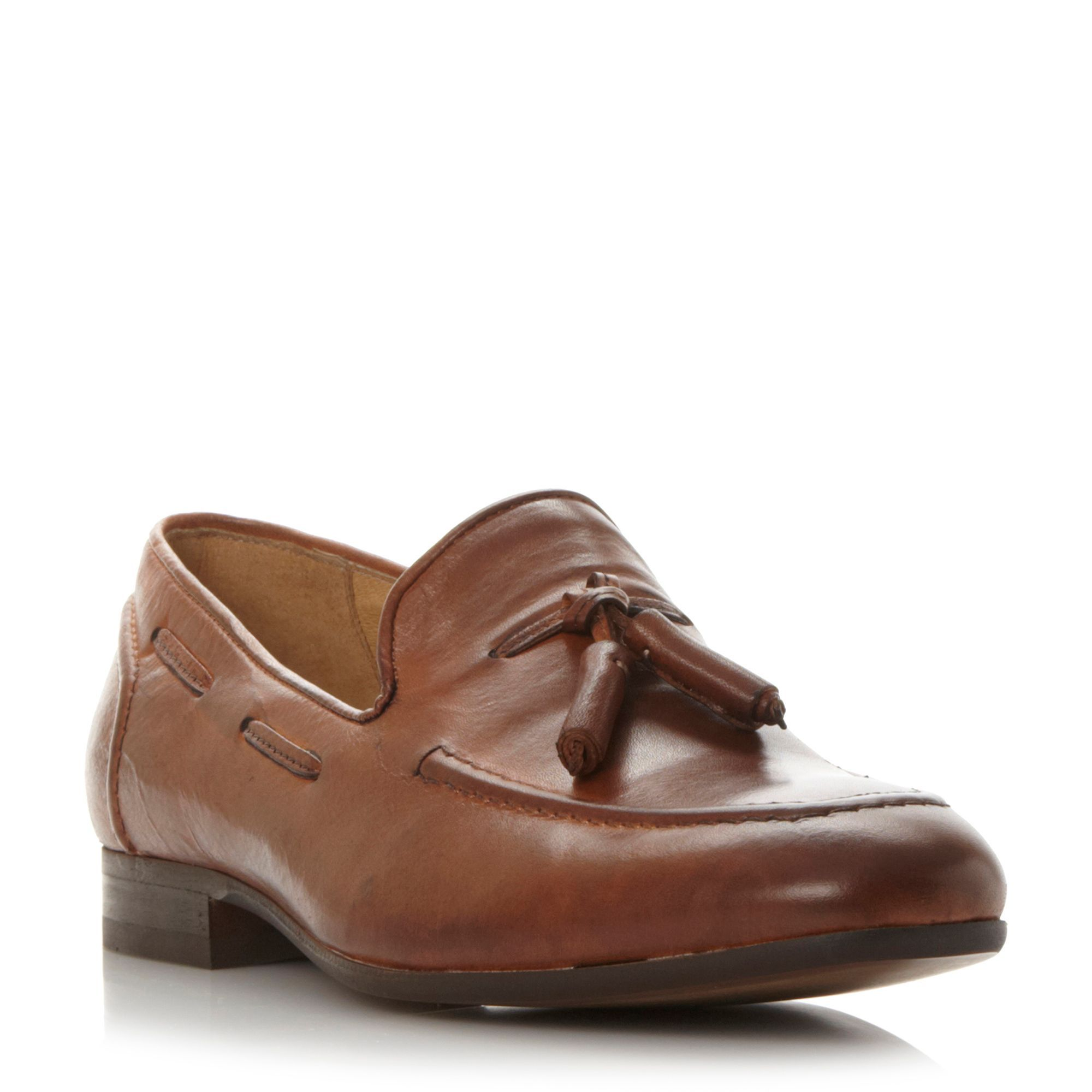 H by Hudson Pierre tassle loafers, Tan