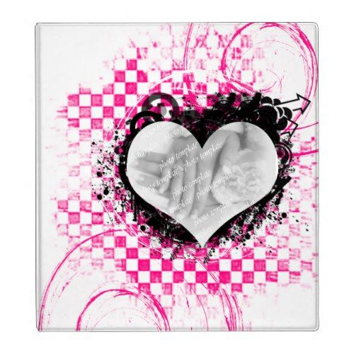 Punk Rock Love Wedding Photo Album Binder