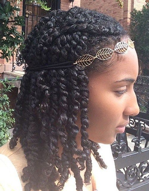 Twisted Hairstyles All Twisted Up 20 Hot Kinky Twists Hairstyles To Try  Pinterest