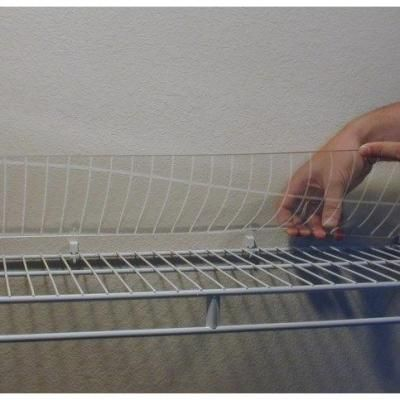 Optix 16 In X 48 In Acrylic Wire Shelf Liner 4 Pack Aws1648 4 The Home Depot Wire Shelf Liner Wire Shelving Shelf Liner