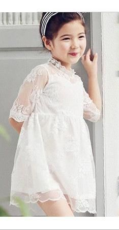 4bf0f41bf2ab Pearl White lace  frock for girls by  ForeverKidz. Made from net and soft  cotton fabrics in regular fit