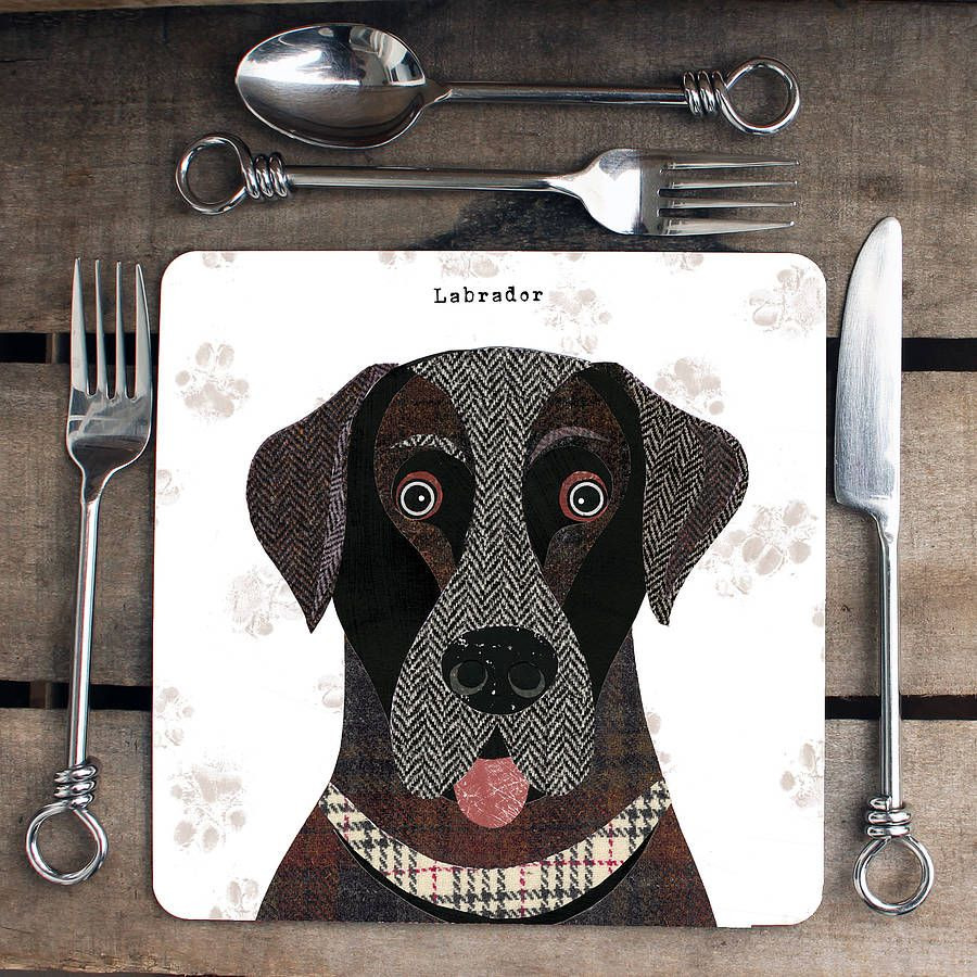 Personalised Labrador Dog Placemat