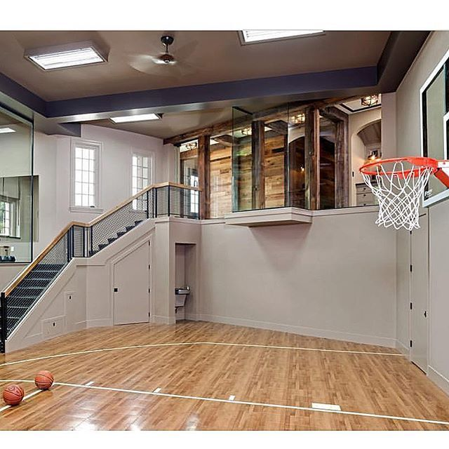 Indoor basketball court anyone by jkandsons dream for Basketball court inside house