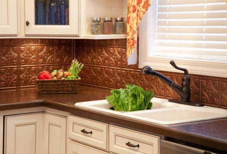 kitchen , copper kitchen backsplash : traditional copper kitchen