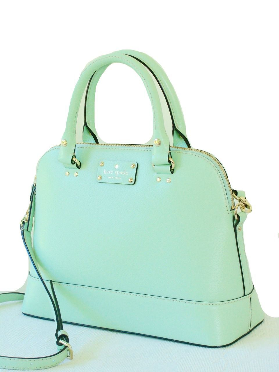 Kate Spade Wellesley Small Rachelle Satchel Bag Mint Mojito Green