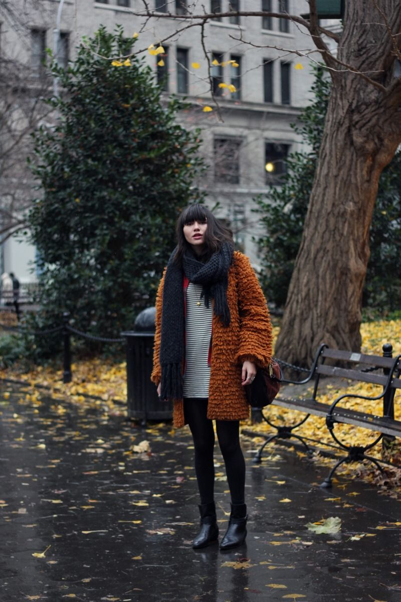 huge coat and scarf | Natalie Off Duty: Snuggle Up