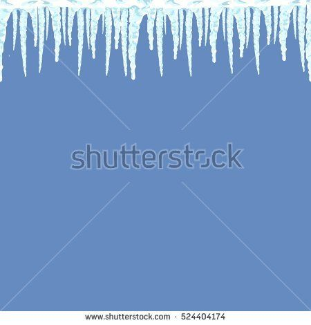 Icicles seamless pattern. Winter background illustration. Flat vector image. Blue and white template. Ice and snow. New year and Christmas