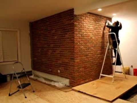 Installing An Interior Brick Wall Aka The Warehouse Effect Brick Interior Wall Home Home Projects