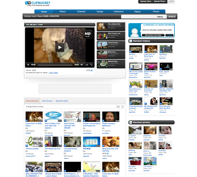 Get YouTube, DailyMotion clone scripts to create your own
