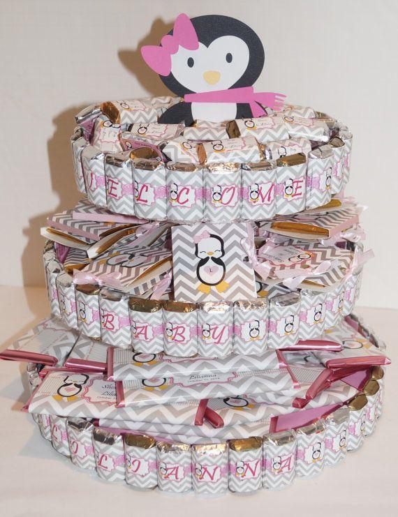 Attractive Penguin Baby Shower Penguin Candy Cake Penguin Baby Shower