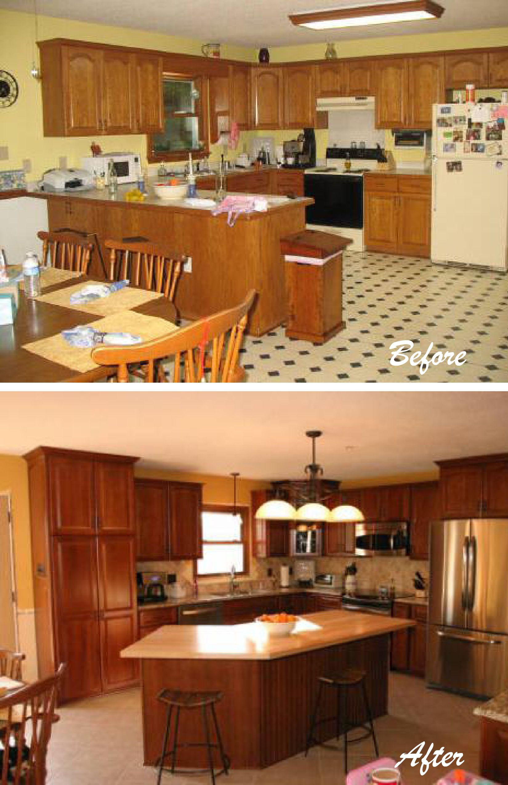 Our Client Wanted To Revamp Their 1980 S Kitchen We Totally Re Designed The Layout And A Affordable Kitchen Remodeling Kitchen Remodel Kitchen Cabinet Remodel