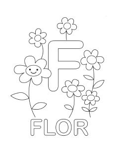 Spanish Alphabet Coloring Page F