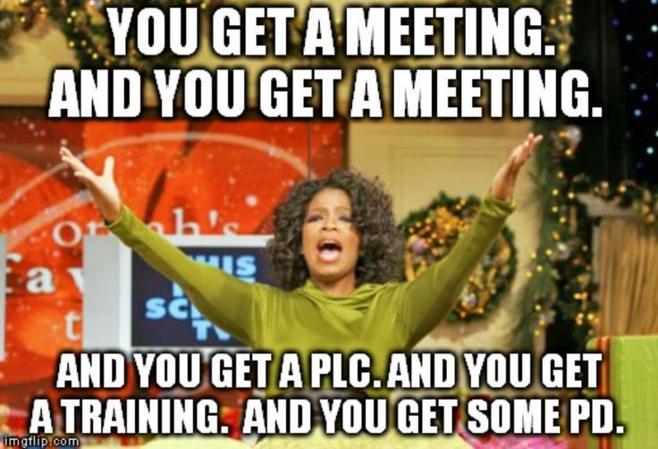 If the back to school staff meeting was an Oprah's