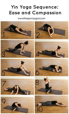 a yin yoga sequence to invite ease and compassion working