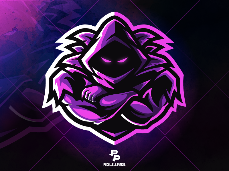 Raven Logotipo criativo, Logotipo do jogo, Desenho de ninja