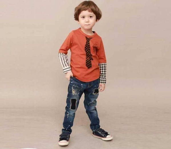 a30f43164f112cdb2028944c6414313a setelan anak laki laki import kaos lengan panjang dasi orange,Baju Anak Anak 6 Tahun