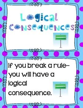 Tremendous Logical Consequences Anchor Chart Cards Classroom Teaching Download Free Architecture Designs Itiscsunscenecom