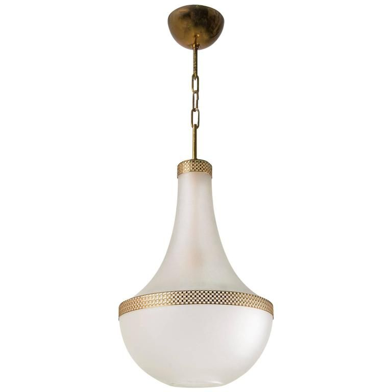 Frosted Glass Pendant By Stilnovo 1950 Glass Light Fixture Chandelier Pendant Lights Glass Pendants