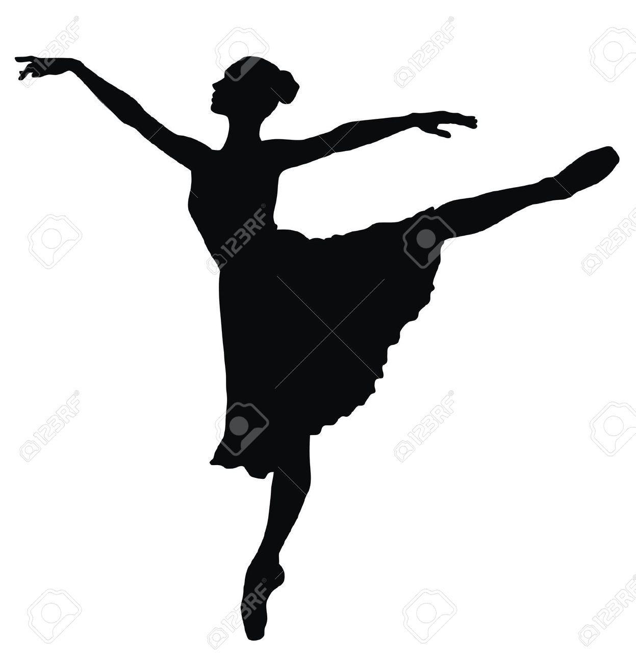 Ballet Dancer Silhouette Vector Free | www.pixshark.com ...