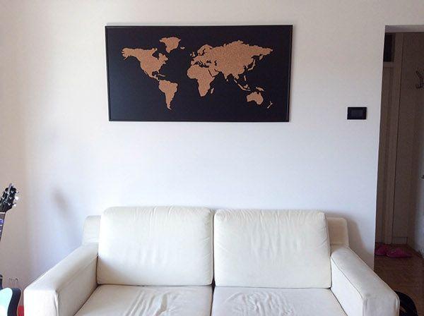 Cork board world map inrichting pinterest cork boards cork cork board world map gumiabroncs Images